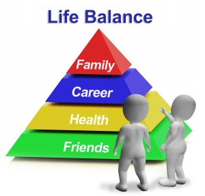 Life Balance Pyramid Having Family Career Health And Friends